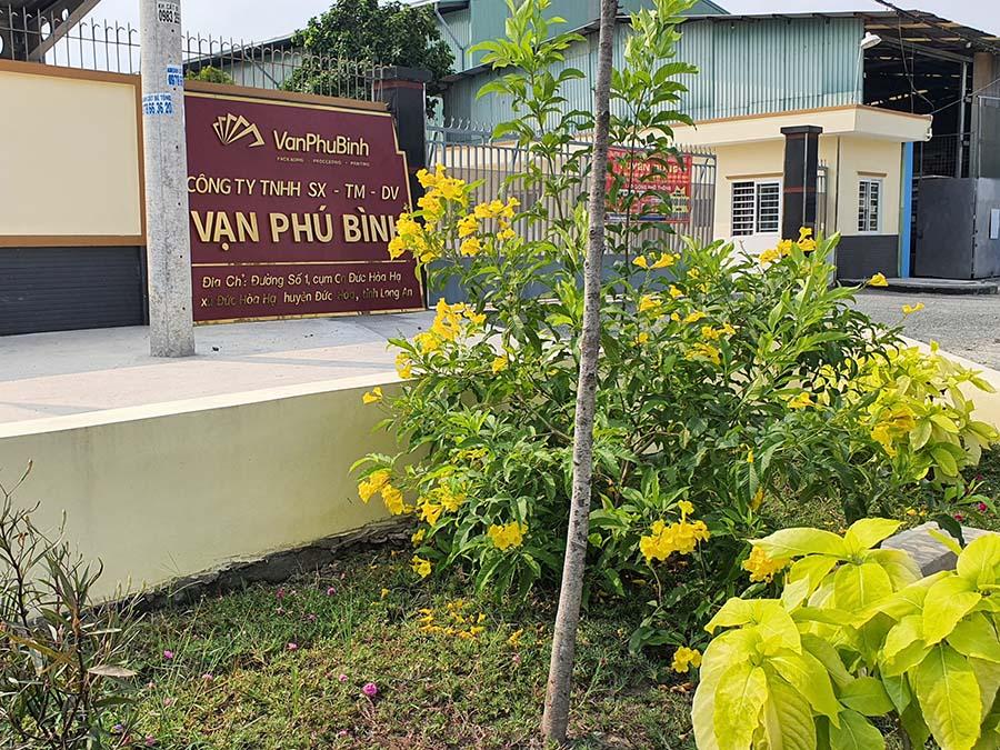 Nhà máy công ty Vạn Phú Bình tại tỉnh Long An