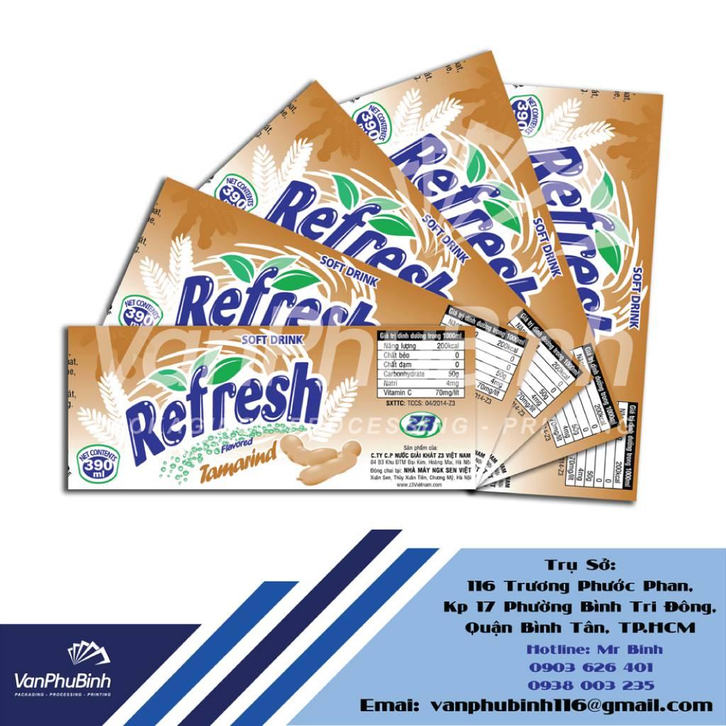 Tem nhãn Refreshme Tamarind - Công ty Vạn Phú Bình